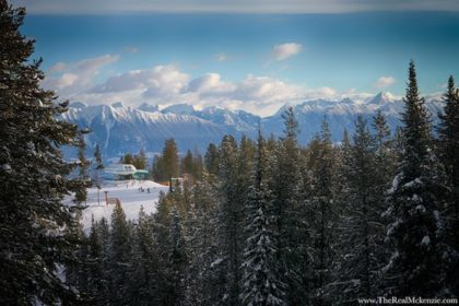 Canadian Rockies backdrop from Kimberley Alpine Resort