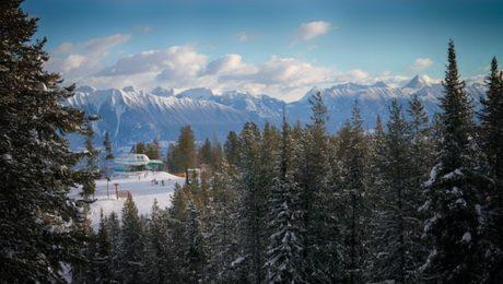 Canadian Rockies backdrop from Kimberley Alpine Resort