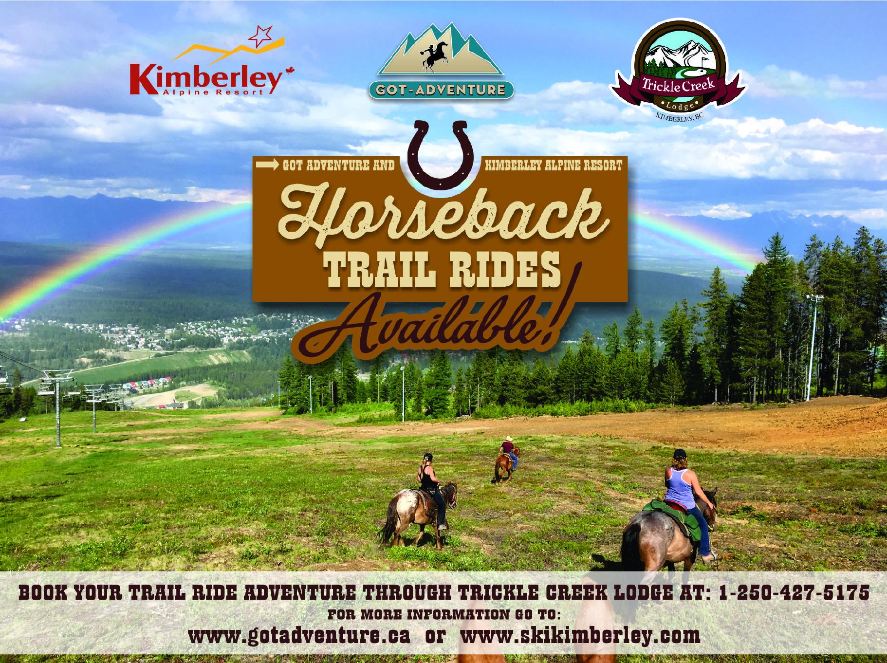 NEW Scenic Mountain Horseback Riding Tours at Kimberley Alpine