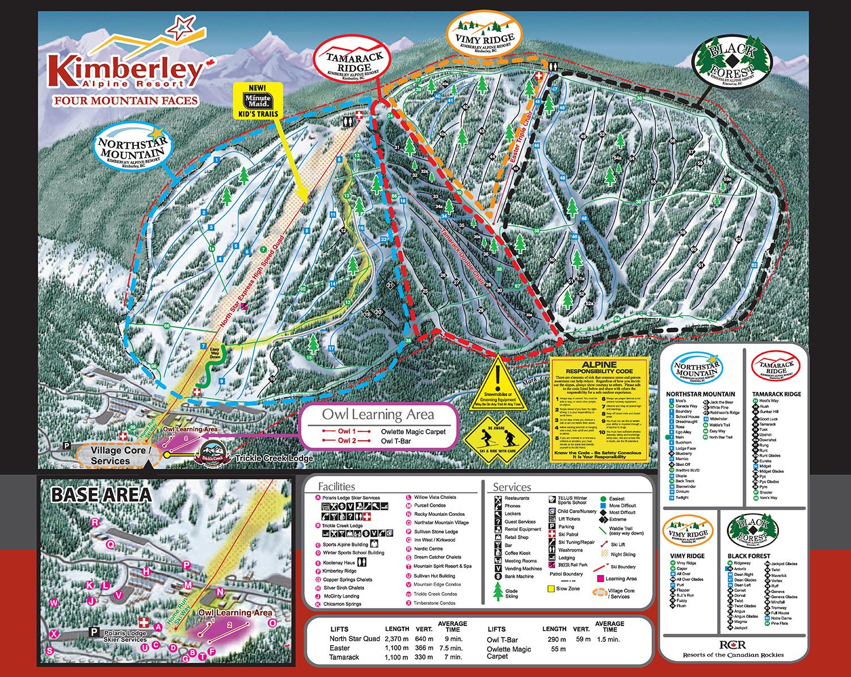resort map – kimberley alpine resort